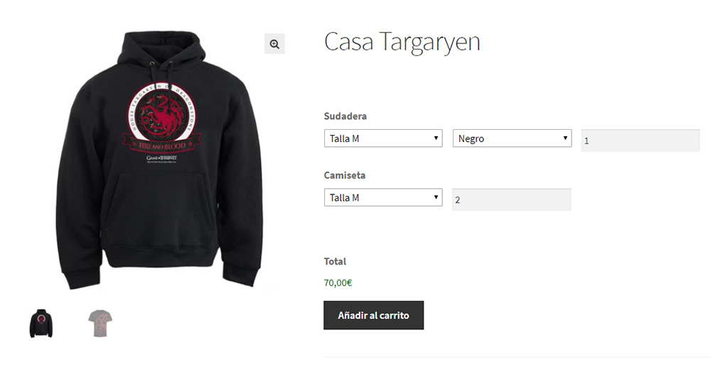 Agrupar productos variables en WooCommerce