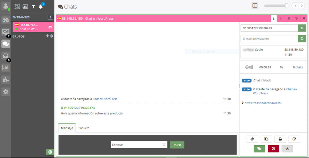 Chatear con usuarios en WooCommerce