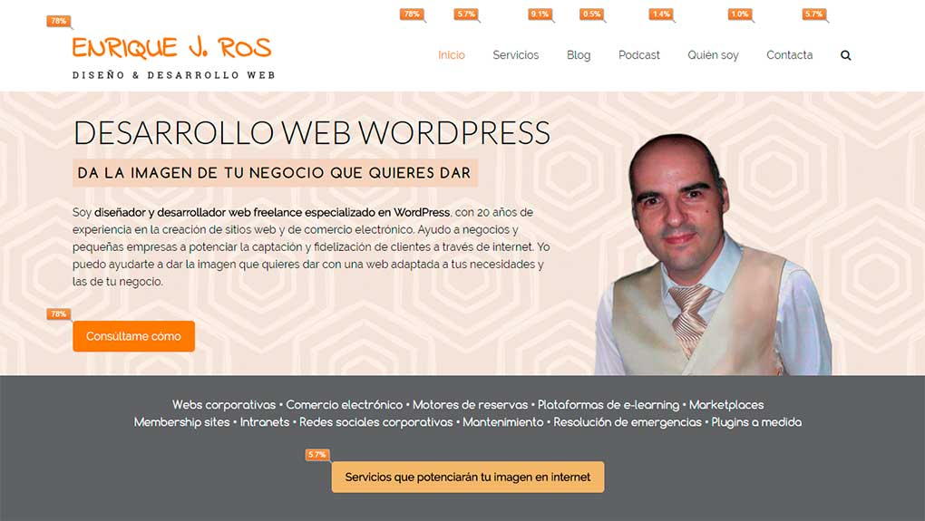 Clicks a los enlaces en tu página con Page Analytics