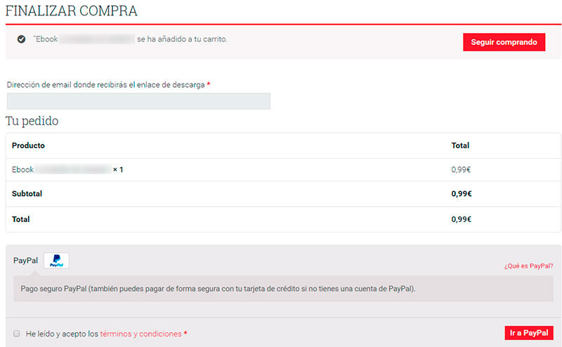 Directo al checkout en WooCommerce