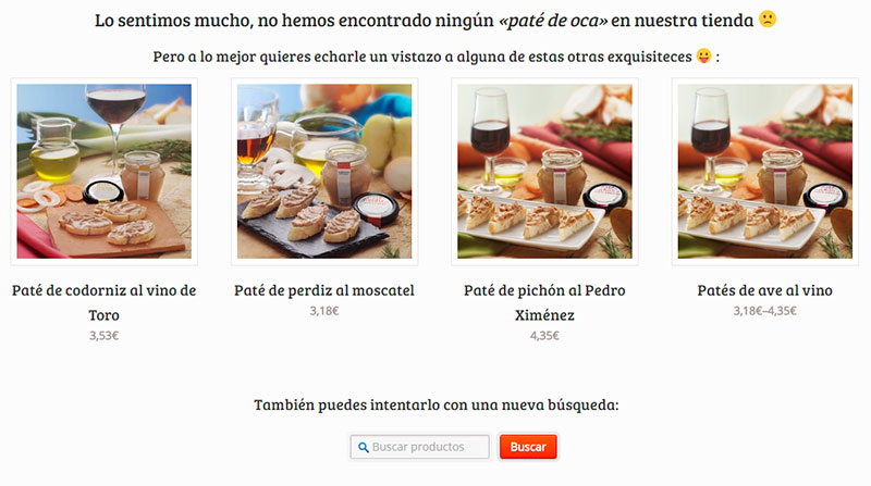 Marketing en la página de producto no encontrado de WooCommerce