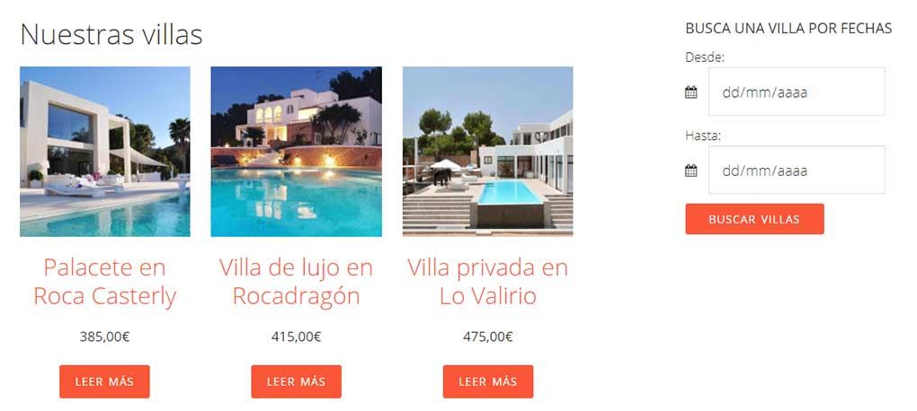 Widget de disponibilidad para WooCommerce Bookings