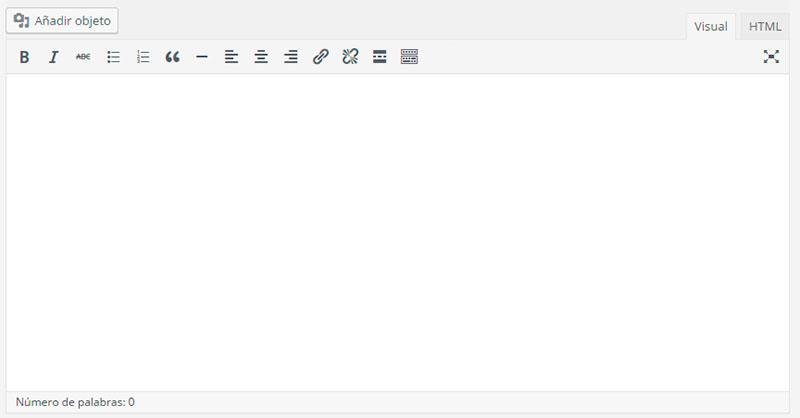 Editor de WordPress