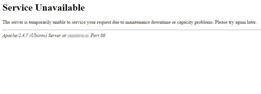 Error 503 Service Unavailable en WordPress