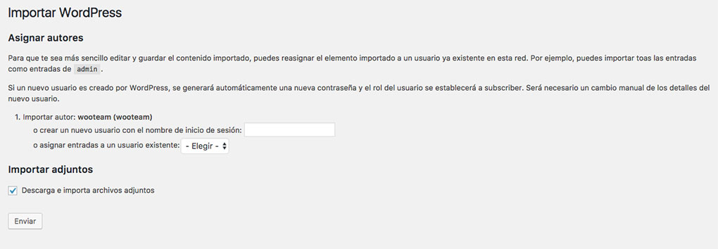 Importar dummy data de WooCommerce