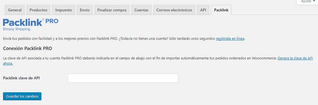 Integrar Packlink con WooCommerce