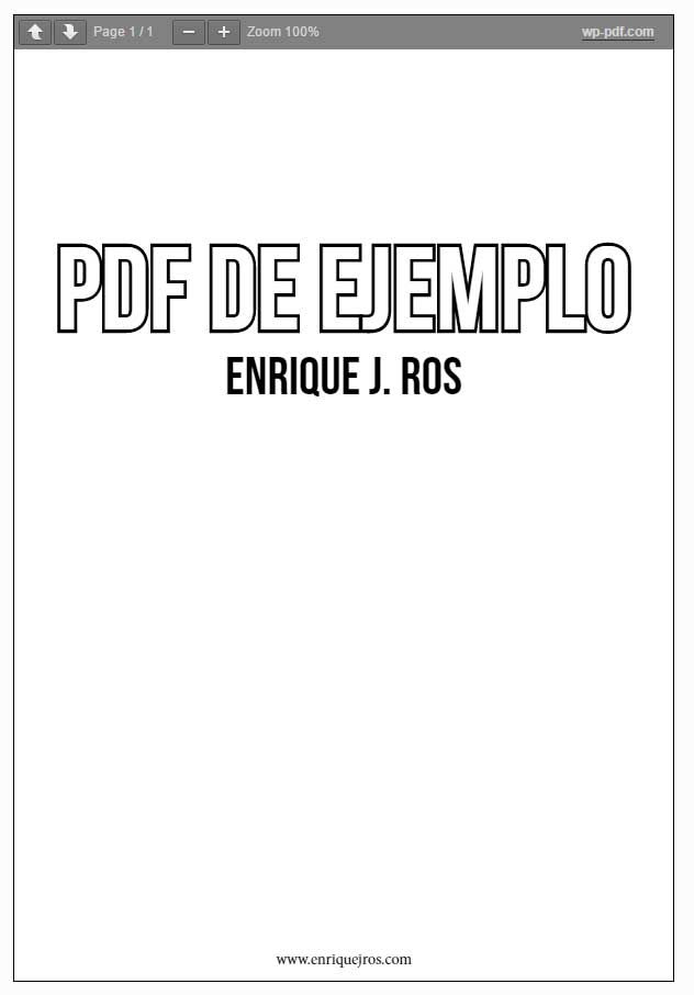 PDF incrustado en WordPress con PDF Embedder