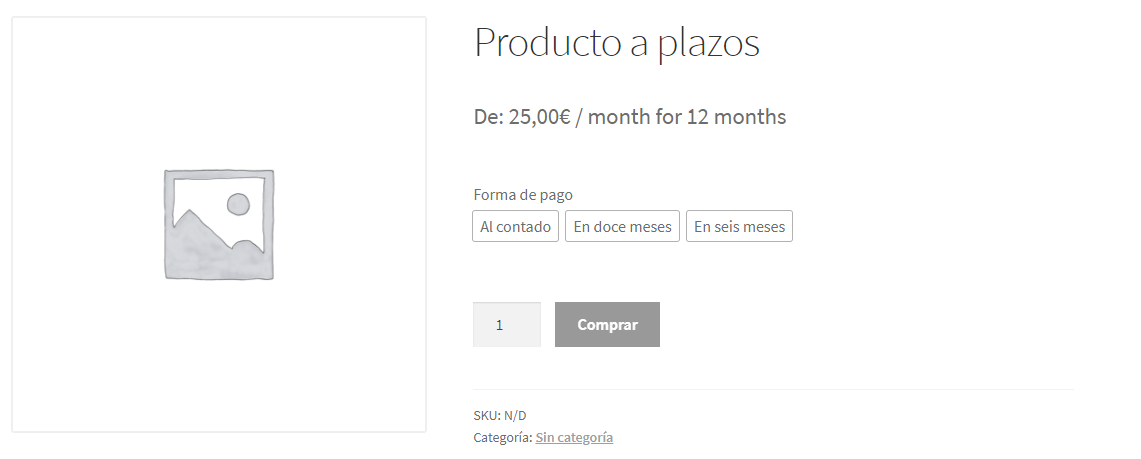 Producto a plazos con WooCommerce