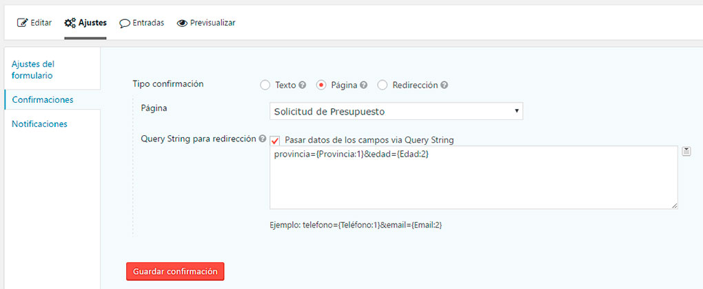 Datos vía Query String en Gravity Forms
