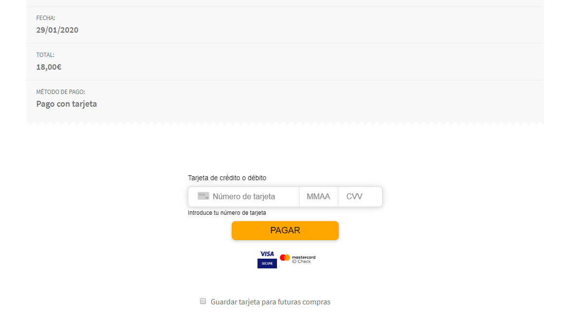 Pago con Redsys integrado en WooCommerce