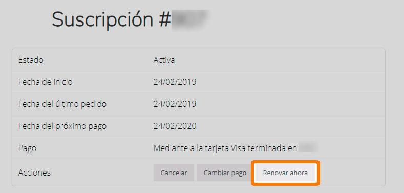 Renovación anticipada con WooCommerce Subscriptions