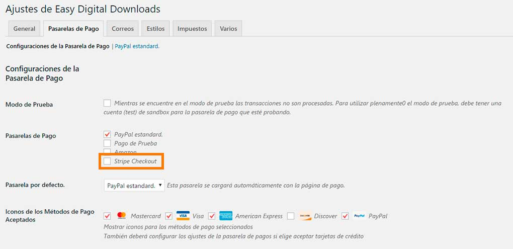 Stripe en Easy Digital Downloads
