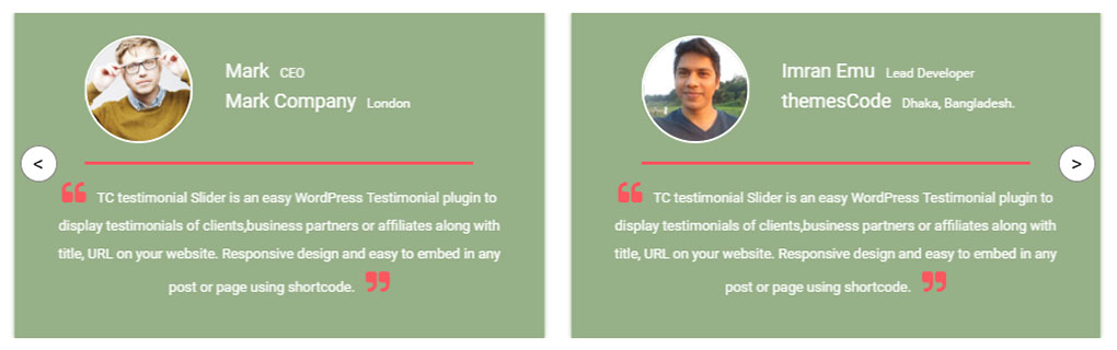 Testimonios en WordPress