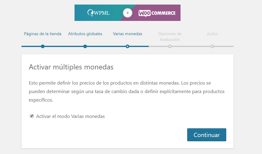 Multidivisa con WooCommerce Multilingual